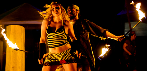 Lady Kitty´s Hell´s Belles & Sir Henry Hot Fire Machines ::: Strip-Show live at Wacken Open Air